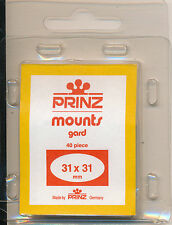 Prinz Stamp Mounts Size 31/31 CLEAR Pack of 40