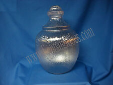 """Small Clear Textured Acorn Street Light Globe Cover 5 1/4"""" Opening Hole for Post"""