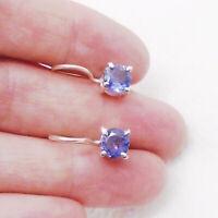 Iolith blau blue rund Design Ohrringe Ohrhänger Hänger 925 Sterling Silber neu