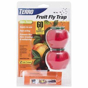 TERRO T2502 FRUIT FLY TRAP LURE NON TOXIC INSECT 2500 SALE!! WORKS AMAZING SALE