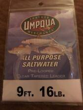 Umpqua Fly Fishing All Purpose Saltwater Pre Looped Leader 9 Feet 16lb