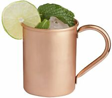 Classic Solid Copper Moscow Mule Mugs No Lining Smooth Finish 16 oz