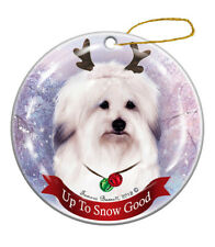 Holiday Pet Gifts Coton de Tulear Dog Porcelain Christmas Ornament