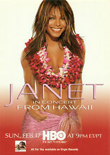 PROMO POSTCARD - JANET JACKSON IN CONCERT FROM HAWAII - HBO