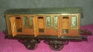 Rare 30s ? O Gauge Hornby Series LNER 1224 1st 3rd Railway Coach Carriage Doors