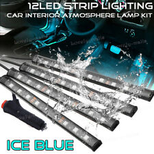 12 LED 5050 8000K Ice Blue Under Dash Floor Interior Seats Strip Lighting Lamp