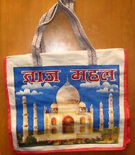 Taj Mahal Bollywood India Canvas Tote Grocery Farmer's Market Bag Carry All