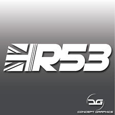 R53 Mini Cooper S Union Jack Supercharged Car Vinyl Decal Sticker Graphic JCW GP
