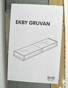 IKEA EKBY Gruvan Shelf Glass (Black) 31 1/8 in. x 7 1/2 in. * Made in Germany