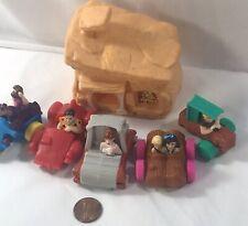 Vintage Flintstones Lot Of 6 Movie Kids Meal Collectible Htf Set #7