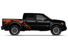 Vinyl Graphics Decal SPLASH Wrap Kit fits 2010-2014 Ford F-150 Raptor SVT Orange