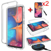 For Samsung Galaxy A10e Clear Case Shockproof TPU Phone Cover Screen Protector