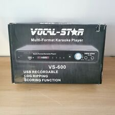 Vocal Star VS-600 Multi-format Karaoke Player + 3 Wired Microphones