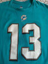 DAN MARINO Miami DOLPHINS #13 Hall of Fame Shirt HOF NFL Majestic XL MINT tshirt