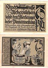Germany 75 Pfennig 1921 Notgeld Aschersleben UNC Uncirculated Banknote