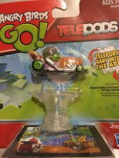 Angry Birds Go! Telepods Kart - Pig with Grey Helmet New With Base