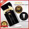 Metal Cigarette Storage Case Tobacco Electronic Lighter Usb Charging Windproof