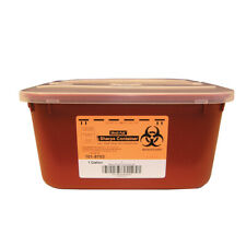 6 Pack 1 Gallon Sharps Container Biohazard Home Dr Tattoo Needle Disposal Sharp