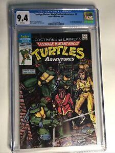 Teenage Mutant Ninja Turtles Adventures 1 CGC 9.4 NM 1st Krang Bebop Rocksteady
