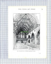 8634) Murrayfield Church Edinburgh A Hunter Crawford - 1909 Book Print