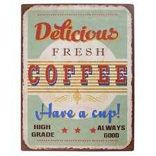 IB Laursen Metallschild Delicious Fresh Coffee