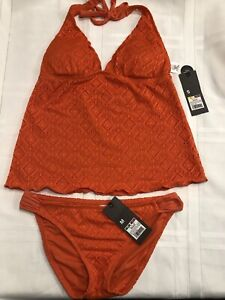 New With Tags - Tankini Orange Swimsuit Size S/M