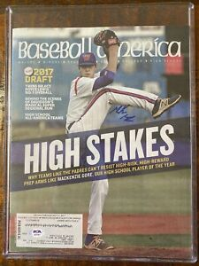 Mackenzie Gore Signed Baseball America Magazine Psa Dna Coa Autographed Padres