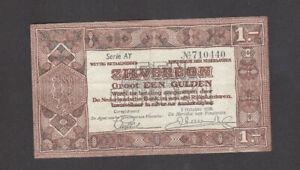 1 GULDEN VERY FINE BANKNOTE FROM NETHERLANDS 1938 PICK-61