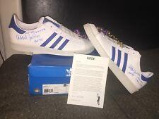 "Kareem Abdul-Jabbar UCLA Signed Adidas Original Shoes ""HOF 95"" Dual Signed"