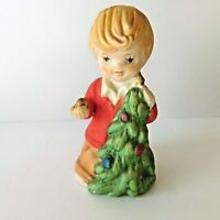 House of Lloyd Porcelain Bell Little Boy Christmas Tree Holidays Vintage 1981