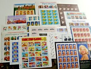 Five (5) Sheets x 20 = 100 of Assorted Mixed Designs of 32¢ US PS Postage Stamps