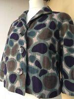 Hoss Intropia Warm Jacket 40 S M 12 Vintage Arty Lagenlook Chic Quirky