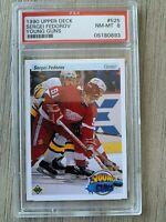 Sergei Fedorov 1990 Upper Deck Young Guns PSA 8 NHL Rookie Card