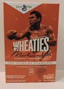 2020 MUHAMMAD ALI 100 YEARS OF CHAMPIONS LIMITED EDITION WHEATIES CEREAL BOX