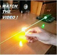 AAA High Power 500w 500000M Green Laser Indicator 532nm Burn Cigarette Light