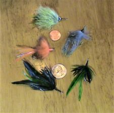 (#282) Lot Of 5 Fly Lures - #1 Freshwater Hooks