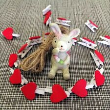 lovely 20Pcs Wooden Red Heart shaped Photo Clips Wedding Christmas Decoration