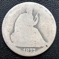 1877 Seated Liberty Half Dollar 50c Circulated Lowball #18293