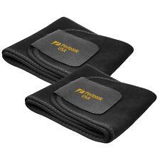 ❤ 2 Pack Waist Trainer Trimmer Belt Body Shaper Wrap Weight Loss Belt Black
