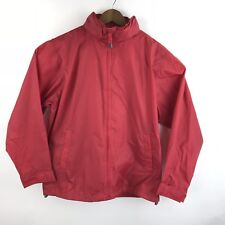 Lands End Kids Sz Large 14 16 Hooded Rain Coat Packable Red L Windbreaker Jacket