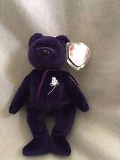 Rare TY Mint 1st Edition Princess Diana 1997 Retired Beanie Baby NO SPACE