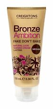 Creightons Bronze Ambition Fake Don't Bake Natural Look Tanning Cream Medium NEW