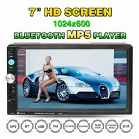 "7"" HD Autoradio Bluetooth Car Stereo FM Radio MP5 Player USB/TF/AUX/GPS + Kamera"