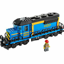 NEW Lego Train City Cargo Freight Blue Engine WITH MOTOR Railway Set from 60052