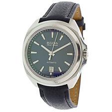 Bulova Men's Accu Swiss 63B185 Silver Leather Automatic Fashion Watch
