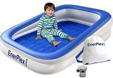 EnerPlex Kids Inflatable Toddler Travel Bed Portable Air Mattress Blue