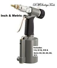 Rivet Nut Pneumatic threaded insert riv nut tool riveter with Inch & Metric SZs