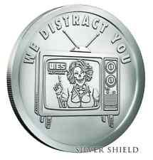WE DISTRACT YOU .999 FINE   BU SILVER SHIELD V1  //980