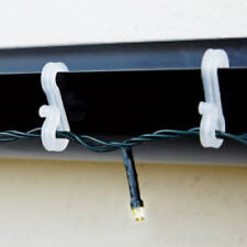 Outdoor Clear Gutter Hooks Light Clips Christmas Led Icicle Fairy Rope String