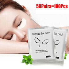 50Pairs Natural Hydrogel Eye Patch Under Eye Mask Gel Pads Skin Moisture Tighten
